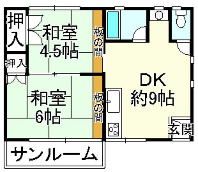 滋賀県高島市-中古戸建て-オレンジハウス-間取り