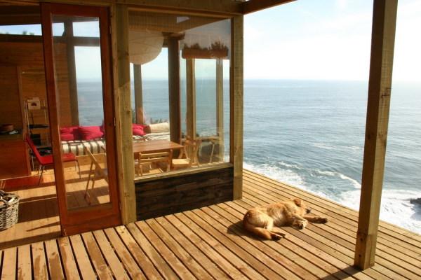 海の眺めの良いタイニーハウス