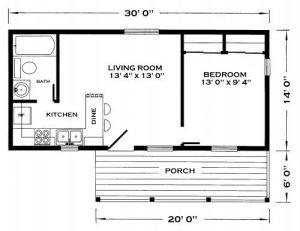 1LDKのタイニーハウスの間取りで家のイメージ作り