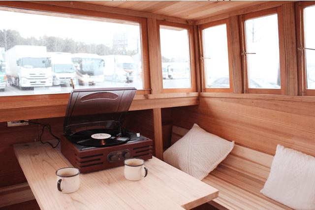 木製キャンピングトレーラーBaske-T 60-内装