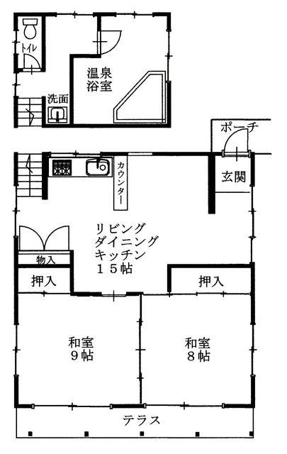 静岡県伊豆市-中古物件-間取り