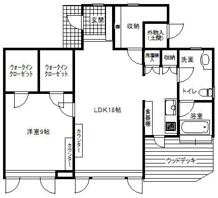 千葉県茂原市-中古住宅-間取り