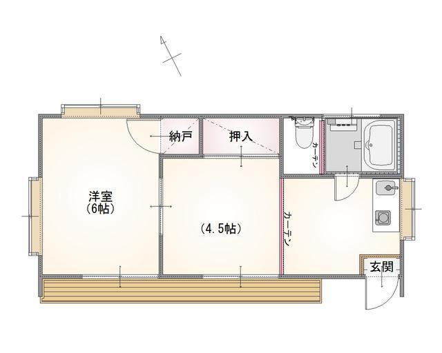 茨城県鉾田市青山-タイニーハウス-間取り