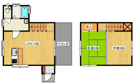 茨城県鹿嶋市-中古戸建-間取り