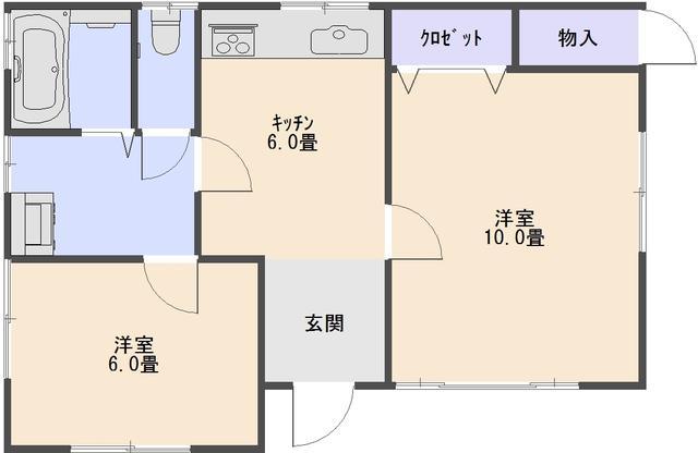 茨城県鉾田市-中古戸建-平屋間取り