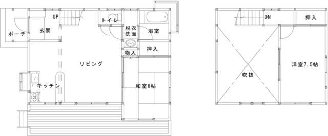 栃木県那須郡-中古戸建て-間取り