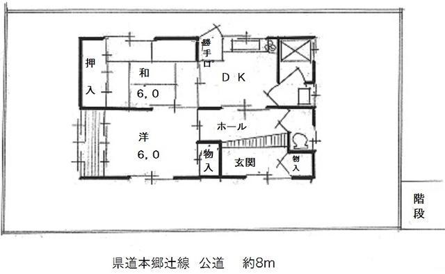 兵庫県篠山市-中古戸建て-間取り