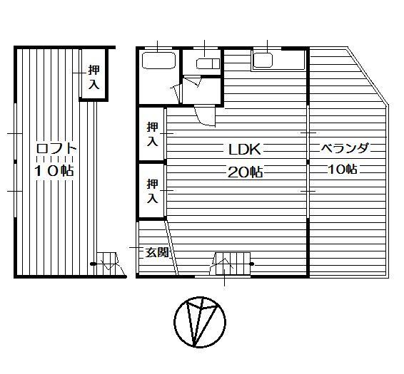 兵庫県三田市-中古戸建て-ログハウス-間取り
