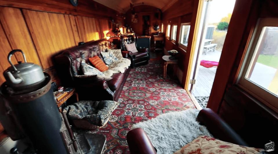 列車のタイニーハウス